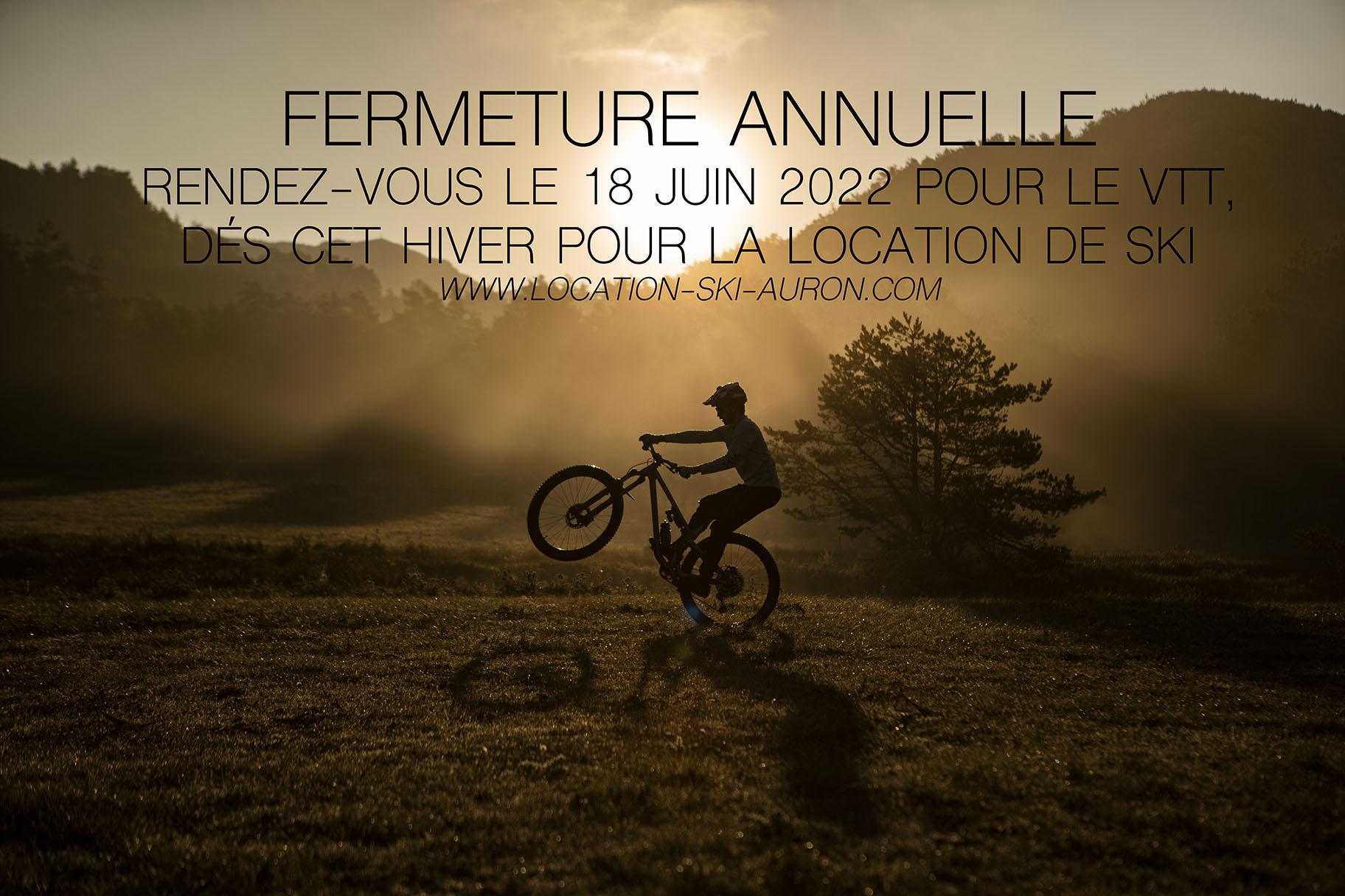 FERMETURE ANNUELLE